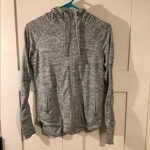 Black and grey hoodie